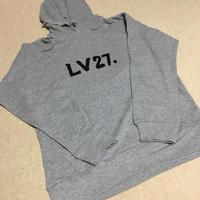 LV27.パーカー 黒・グレー XL