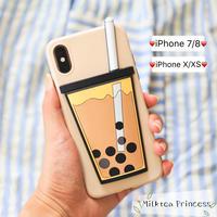 3DタピオカミルクティーiPhoneケース | iPhone7/8/X/XS【MP-C-01】