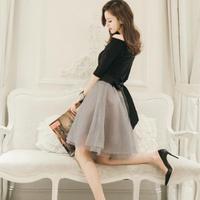 オフショルダー パーティードレス 韓国ワンピース  お嬢様 オフショル FS014901