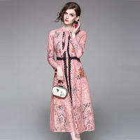 マキシワンピース パーティードレス お呼ばれ ロングドレス 花柄 刺繍 FS040401