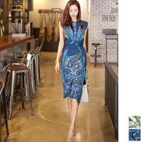 パーティードレス 韓国ワンピース 上品クラシカル ラップドレス風デザイン 可愛い FS110101