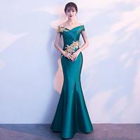 マキシワンピース マーメイドライン フィッシュテール ロングドレス お呼ばれ パーティー FS068201