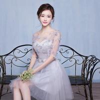 結婚式 二次会 花柄ワンピース パーティードレス 6タイプ シースルー ゴージャス 大きいサイズ XL 2XL FS021701
