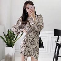レオパード柄 ワンピース 韓国ワンピース 豹柄 可愛い セクシー FS095501
