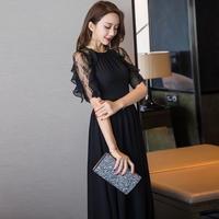 ロングドレス フリル袖 可愛い スリット セクシー マキシワンピース  お呼ばれ パーティー  FS047201