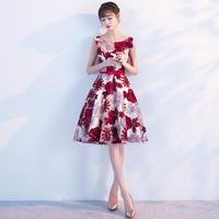 韓国ワンピース 花柄刺繍 ノースリーブワンピース パーティードレス 発表会 演奏会 食事会 FS049101