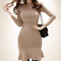 秋冬 ニットワンピース 韓国ワンピース マーメイドライン 個性的 スカート FS092101