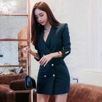 韓国ワンピース フロントボタン 可愛い OL ビジネスシーン FS097701