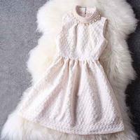 パーティードレス ホワイト ワンピース 白 ノースリーブ イブニングドレス Aライン 結婚式 F0022001