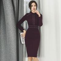 パーティードレス 韓国ワンピース ビジュー 可愛い クラシカル 紫色 大人女子 FS102201