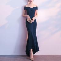 エレガント ロングドレス オフショルダー 韓国ワンピース 結婚式 パーティー FS055801