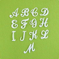 アルファベットワッペン(筆記体) / ホワイト
