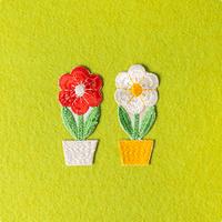 モチーフワッペン/鉢植えフラワー