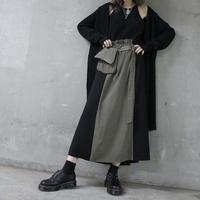 【LR1018】ベルトポーチ付フレアスカート