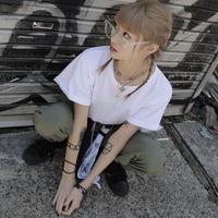 【LR0069】ショート丈Tシャツ
