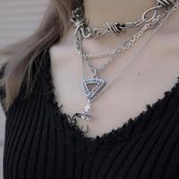 【LR0070】ロゴ△ネックレス