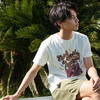 TESHIMA AKITO×CALEE Radio T-shirt WHITE
