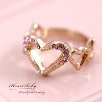 ピンクゴールド♥リング
