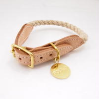 Found My Animal Rope Cat&Dog Collar (LIGHT TAN)