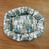 Wagwear Madras Bed blue SIZE S