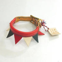 ikoyan for doggy/Garland Collar FLAG (RED×NAVY×WHT) サイズXS