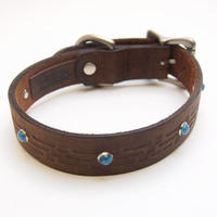GITLIGOODS THE SANTAFE DOG COLLAR BROWN
