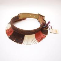 ikoyan for doggy/Garland Collar FLINGE(BRN×PINK×WHT)Size L