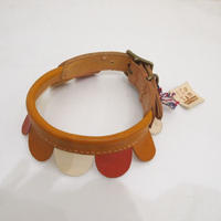 ikoyan for doggy/Garland Collar Flower  (White×Pink×Yellow)  サイズ L