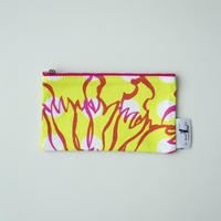 POUCH_フラットポーチ -BUBBLE FLOWER- (YELLOW)