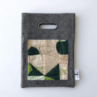 BAG_刺繍フェルトバッグ  -DESERT OASIS- (GREEN)