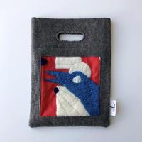 BAG_刺繍フェルトバッグ -MAGIC BIRD- (RED)