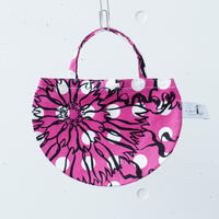 BAG_ミニRトート -BUBBLE FLOWER- (PINK)