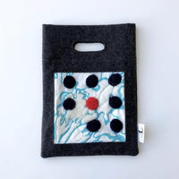 BAG_刺繍フェルトバッグ  -BUBBLE FLOWER- (LIGHT BLUE)