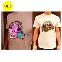 【KIDS】ワイラプ×LIGHT FORCE コラボTシャツ(デザインA)