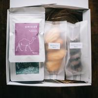 【マドレーヌ&クッキーとコーヒーのセット】コーヒー豆3種類