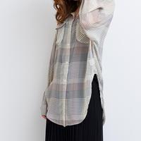【残りわずか】チェックドルマンシャツ  c0005