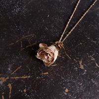 【限定一点】Lilaf アンティークローズのネックレス pink