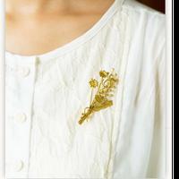【復刻】カモミールとミモザのブローチGD(真鍮)