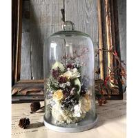 お花のガラスドーム(大)*ブラウン