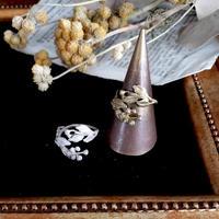 [12月誕生花×誕生石]イソギクのリング*Gold/Silver