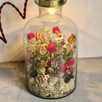 【限定二点】Lilaf flower bottle light(ボトルライト)  pink