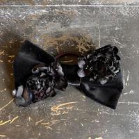 【Lilaf限定】 リボンとお花のヘアゴム* Black
