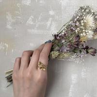 [7月誕生花×誕生石]ヒメシャジンのリング* Gold/Silver