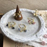 花とつぼみの真鍮イヤーカフ* 4color