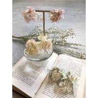 [Lilaf限定色*]木の実レースとお花のイヤリング/ピアス