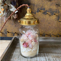 【Lilaf限定1点*】アジサイ入り flower bottle light (ボトルライト) Small*Pink