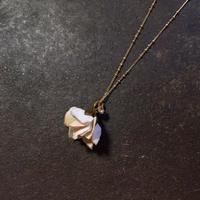 【限定一点】Lilaf クララ木綿のネックレス beige (紅茶染め)