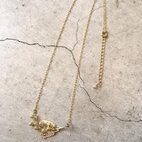 【真鍮】ミモザのネックレス