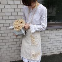 【Lilaf限定1点*】紅茶染めレースの巻きスカート*