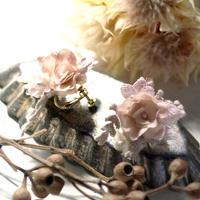 木の実レースとお花のイヤリング/ピアス * Lavendar